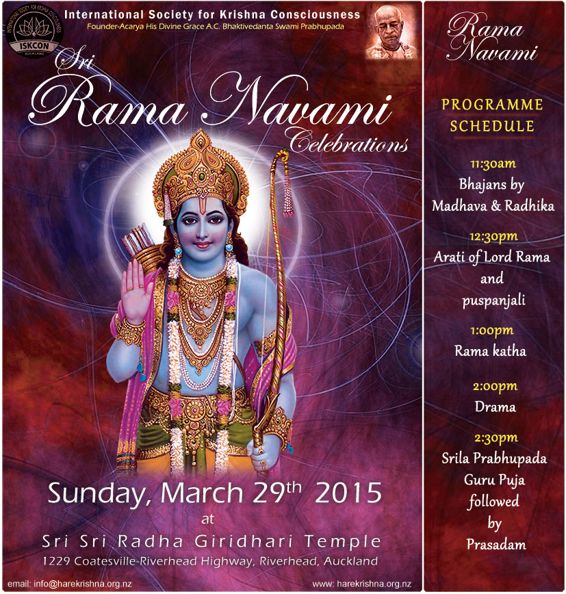 Calendar Ramnavmi : The hare krishna movement new zealand rama navami